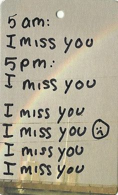 """""""seriously, i miss you.."""".... I miss you so much, R... :) <3"""