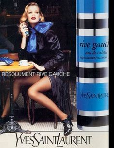 Rive Gauche Yves Saint Laurent perfume - a fragrance for women 1971 Yves Saint Laurent, Saint Laurent Perfume, Ysl, Perfume Ad, Vintage Perfume, Rive Gauche Perfume, Anuncio Perfume, Cristian Dior, Beauty Ad