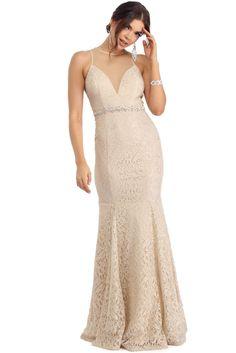 Ivanna Natural Vintage Lace Dress | WindsorCloud