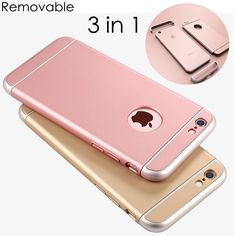 FLOVEME For iPhone 7 7 Plus Case 3 In 1 Combo Slim Hard Plastic Phone Cases For iPhone 7 Plus 6 6S Plus Shockproof Armor Cover