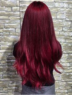 2019 En Tutkulu 35 Kızıl Saç Renkleri - Dark Red Hair Color Ideas – Colors Colors… Imágenes efectivas que le proporcionamos sobre healt - Burgundy Red Hair, Bright Red Hair, Burgundy Colour, Red Colour, Purple Hair, Grey Hair Wig, Ombre Hair, Brown Hair, Dyed Hair Pastel