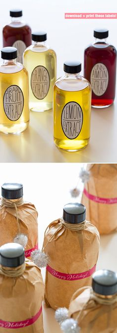 DIY - Homemade Extracts - PDF Label Download + Recipes