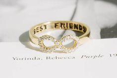 BEST+FRIENDS++Infinity+Ring+,best+friends+ring+van+Superarmband+op+DaWanda.com