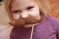 Crochet Mustache Amigurumi ~ Free Pattern