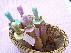 Pretty play rolling pins for pretending to be mummy (except I buy ready rolled!)