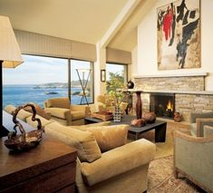 House used in Basic Instinct. Filmed in Carmel (my fantasy home) What an amazing view.  157 Spindrift Road in Carmel Highlands, just south of San Francisco. Back then the home was owned by the Hayes family who developed and built the mansion. Read the daughters, Jodi Hayes, Basic Instinct Review -she had the pleasure to meet Sharon Stone and Michael Douglas on the scene!