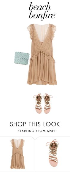 """""""beach"""" by faye-valentine on Polyvore featuring Chloé, Ancient Greek Sandals and Clemsa"""