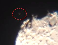 UFO SIGHTINGS DAILY: Triangle UFO Miles Wide Seen Landing On Moon, Telescope Raw Footage, Feb 14, 2014, UFO Sighting News.