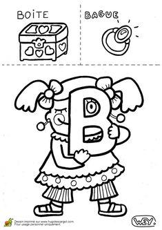 Coloriage lettre b boite bague sur Hugolescargot.com - Hugolescargot.com