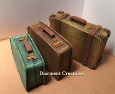 Dollhouse Suitcases 1:12 miniature vintage by diarmentcreations