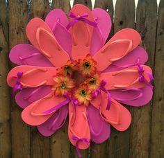 Flip Flop Wreath by TjsCreativeCrafts on Etsy