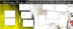 Marriage Photo Album 12x30 Psd Files Download