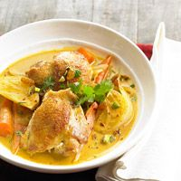 As someone who normally hates carrots and curry, I still say try it; I DEVOURED it, so yummy!!! And perhaps the only way I'll ever enjoy carrots lol :Curried Chicken Stew Recipe