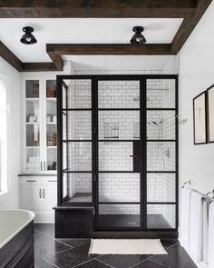 white and black modern bathroom design idea - - white and black modern bathroom design idea Modern Bathroom, Small Bathroom, Neutral Bathroom, Bathroom Mirrors, Bathroom Faucets, Sinks, Silver Bathroom, Dyi Bathroom, Bathroom Plans