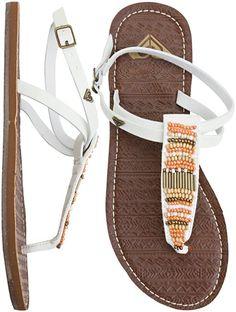 Roxy sandals so adorable Beautiful Sandals, Cute Sandals, Cute Shoes, Me Too Shoes, Strap Sandals, Roxy Shoes, Womens Flip Flops, Summer Shoes, Summer Sandals