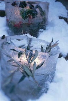 Outdoor Christmas Garden Inspiration ♥ Kerst Tuin Inspiratie Ice Bowls Ijs schaaltjes #Fonteyn