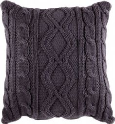 Knitting Patterns Pillow Knitted – Coal knit cushion – To buy Knitted Cushion Covers, Knitted Cushions, Knitted Blankets, Cushions To Make, Scatter Cushions, Throw Pillows, Knitting Patterns Free, Knit Patterns, Free Knitting