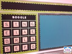 How to set up and use Boggle in your classroom, and free recording sheets!