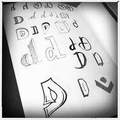 D, kleine letters, handlettering