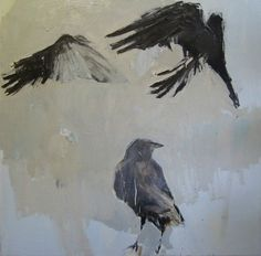Three Crows Matted 8x8 Archival Print Signed by SamanthaFrench, $55.00