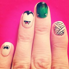 #halloween #monsters #manicure #nails