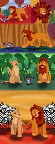 Kovu and Kiiiiaaaara. (Lion King Comic) by OfficialStigma on DeviantArt Simba E Nala, Roi Lion Simba, Simba Rey Leon, Nala Lion King, Lion King Funny, Scar Lion King, Lion King Fan Art, Le Roi Lion, Disney Lion King