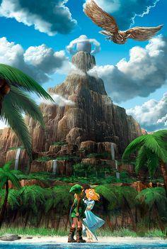 The Legend of Zelda: Link& Awakening (Gameboy Color). The first Zelda game I ever played, and the one that started my love for the franchise. The Legend Of Zelda, Legend Of Zelda Breath, Video Game Art, Video Games, Image Zelda, Princesa Zelda, Fanart, Link Zelda, Wind Waker