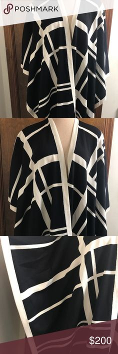 """ST JOHN Collection wrap one size fits all ST JOHN Collection black white stripe wrap one size fits all length 33"""" excellent Condition St. John Tops"""