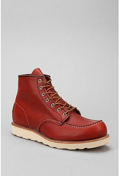 """The colour! Red Wing 6"""" Leather Moctoe Boot."""