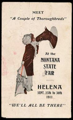 Montana State Fair poster, 1911.