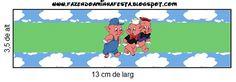 3 Little Pigs Candy Buffet Labels