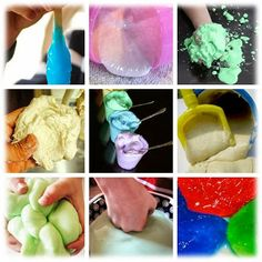 Get messy! - recipes for cloud dough, flubber, gak, slime, moon sand, ooblek, paper clay, sand slime, foam dough and silly putty