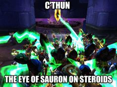 """""""Given Hearthstone's new rise to C'thun, I figured I'd bring this one back from the archives."""" -Thanium #warcraft #worldofwarcraft #warcraftmovie #wowaddict #warlordsofdraenor #frostmourne #horde #alliance #blizzardentertainment #blizzard #warcraftaddict #azeroth #heartstone #overwatch #videogames"""
