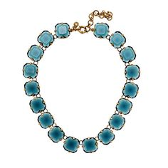 Octagon necklace by J. Crew. This reminds me of the ones Anna Wintour is so fond of wearing though I'm sure hers are the real deal. The blue here is really a beautiful saturated colour.