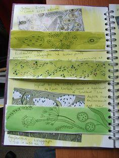 Sketchbook page showing line drawings