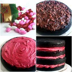 raspberry chocolate valentine's cake!