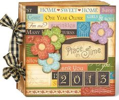 Try this Place in Time calendar mini album with a printable project sheet #graphic45 #projectsheets #tutorials