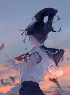 e-shuushuu kawaii and moe anime image board Kawaii Anime Girl, Anime Art Girl, Manga Art, Aesthetic Art, Aesthetic Anime, Dibujos Tumblr A Color, Fanart, Arte Obscura, Anime Scenery
