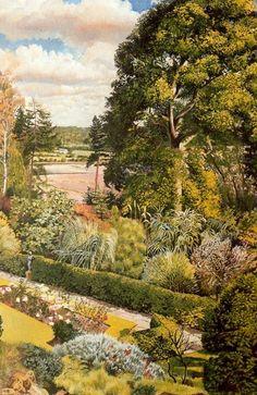 Garden View. Cookham Dene by Stanley Spencer (1891-1959, England)
