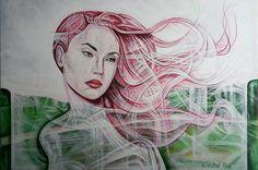 Author: Giò Max Ran Title: The spring Measurements:50cm x 70cm Technique: Acrylic on canvas Production Year: 2016