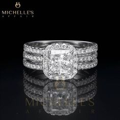 2.85 ct H VVS2 White Gold Diamond Engagement by MichellesAffairs