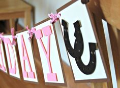 Cowgirl Western Happy Birthday Banner Free by WeBringTheParty