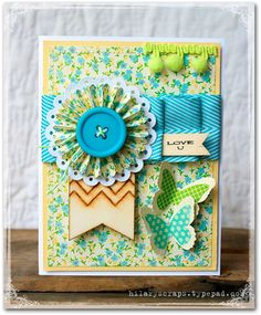 Love U Card by Hilary Kanwischer  *see this month's sketch by Daniela on the sidebar*   Supplies:   Chilled Cucumber Soup Peeled Cucum...