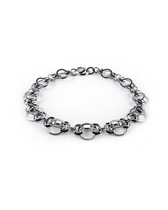 Silver Captivity Necklace by Karen and James Moustafellos: Silver & Steel Necklace available at www.artfulhome.com