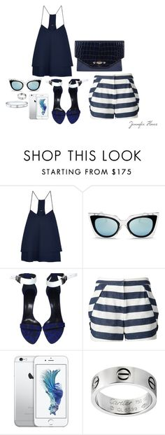 """""""Dinner vibes"""" by jenniferfls on Polyvore featuring moda, TIBI, Fendi, Proenza Schouler, Givenchy, O'2nd y Cartier"""