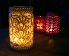 Hazel's Crochet: Candle Jar Covers