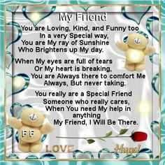 Friendship Day 2nd August/Best Friends section Send this ecard to your friends to let them know how much you treasure their friendship./ From Mom..