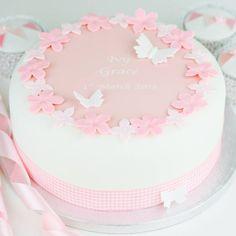 Personalised Girls Christening Cake Decoration Kit