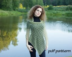 KNITTING PATTERN Perfect poncho Knitted poncho Lace wrap