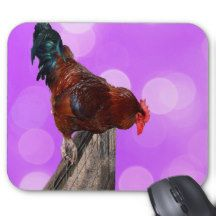 #pink #rooster Nosy Parker #mousepad